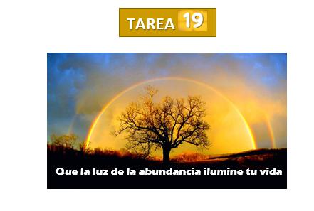 Tarea 19 Que la luz de la abundancia ilumine tu vida