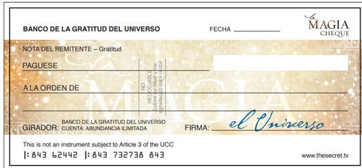 Cheque de la Abundancia